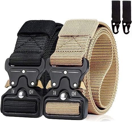 Mens Tactical Belt Cobra Buckle Nylon Tactical Heavy Duty Belt 1.5 Metal Military Quick-Release Belts