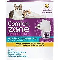 Comfort Zone 2X More Pheromones Formula Calming Diffuser Kit for Cat Calming | Multi Cat & Calming Formulas | Single Diffuser Kit, 1 Diffuser, 1 Refill