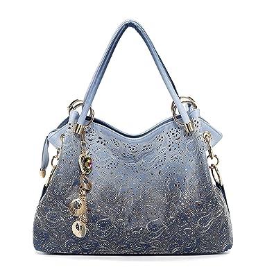 f11cbc75a2521 Vincico Womens Fashion Designer Pu Leather Bag Top Handle Tote Purse  Shoulder Bags Ladies Handbags (