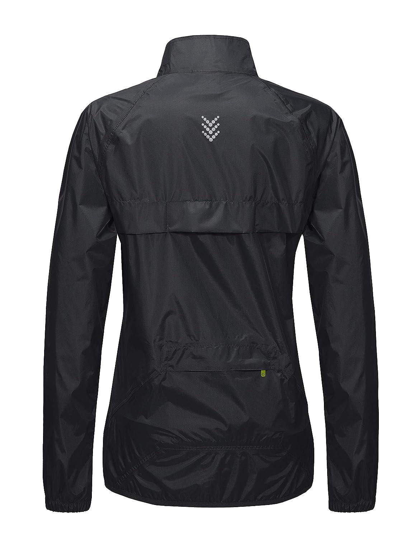 Little Donkey Andy Womens Waterproof Cycling Bike Jacket, Running Rain Jacket, Windbreaker, Ultralight and Packable
