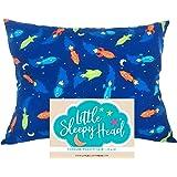 Little Sleepy Head Toddler Pillowcase 13 x 18-100% Cotton & Hypoallergenic - Space
