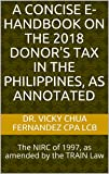 A Concise e-Handbook on the 2018 Donor's Tax in the