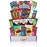 Healthy Nuts and Bars Variety Pack Gift Snack Box (Care Package Basket 30 Count)