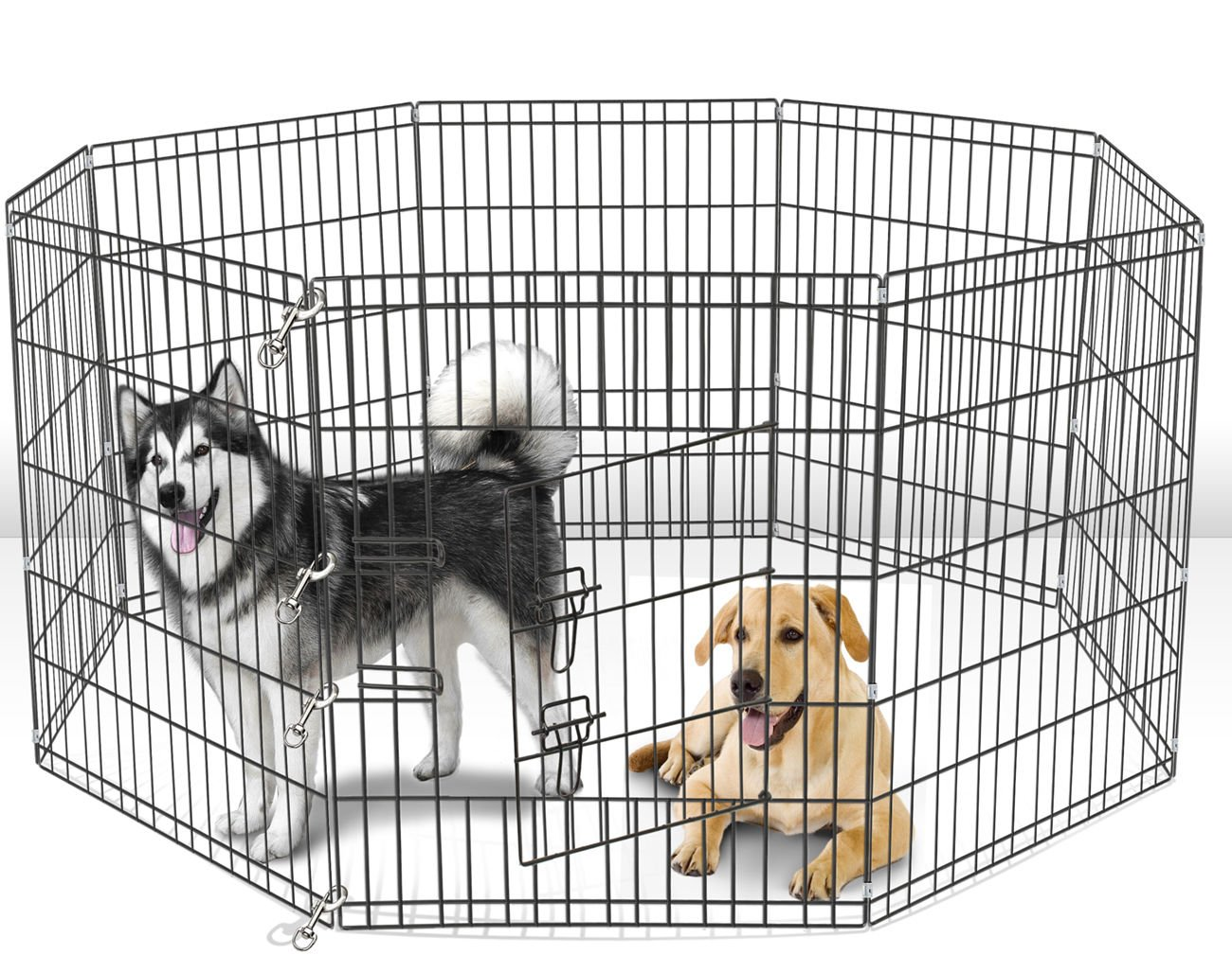 42'' Tall Wire Fence Pet Dog Folding Exercise Yard 8 Panel Metal Play-Pen by MRT SUPPLY