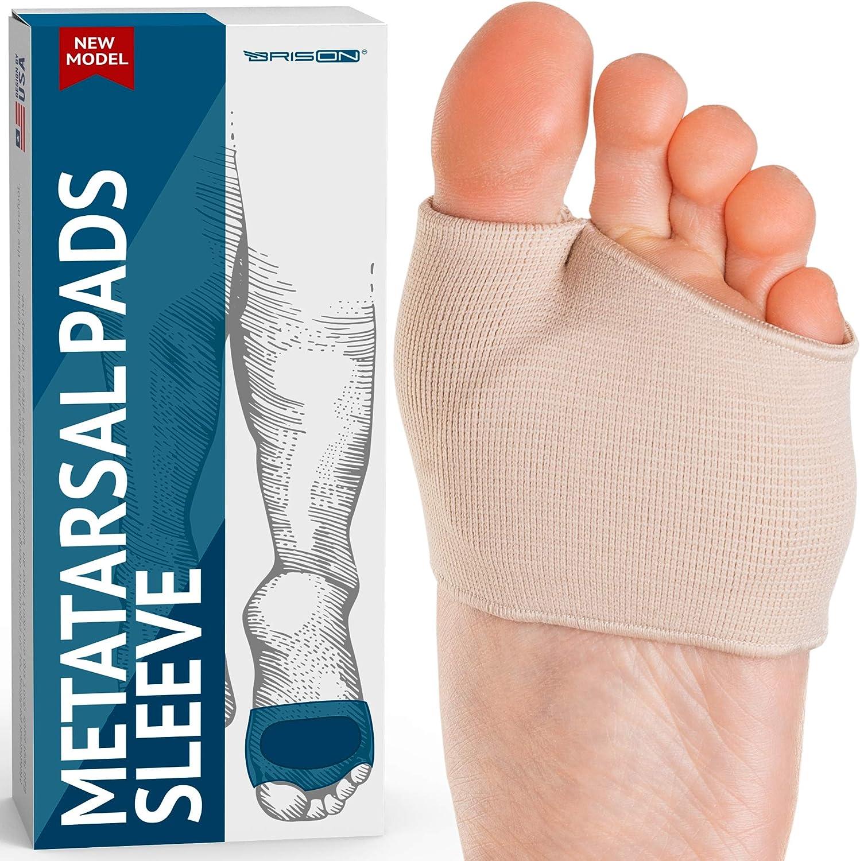 Plantillas de Gel Para el Metatarsiano - De Tejido Suaves Cuidado de Pies para el Empeine - Neuroma de Morton Blíster Callos Soporta Metatarsalgia Alivio del dolor
