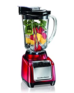 Hamilton Beach Wave-Action Blender, Red