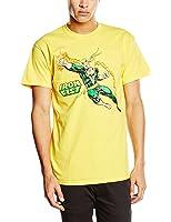 Plastic Head Men's Marvel Comics Iron Fist Punch Banded Collar Short Sleeve T-Shirt