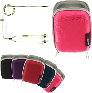 Navitech Pink Hard Protective Earphone/Headphone Case Compatible with The Bose SoundSport in-Ear Headphones – Apple Devices