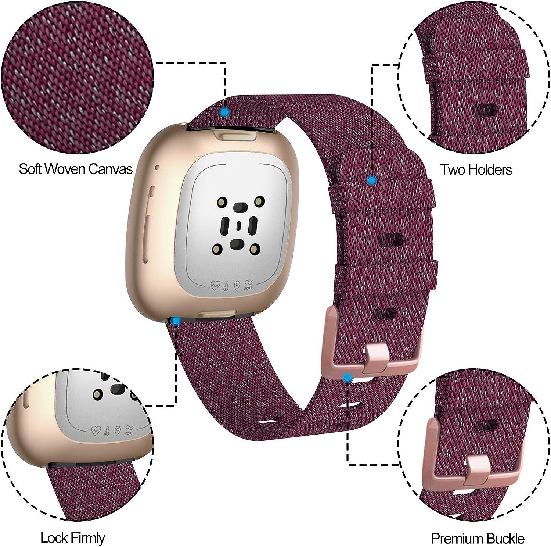 Malla para reloj Fitbit Versa 3 / Fitbit Sense (violeta rose