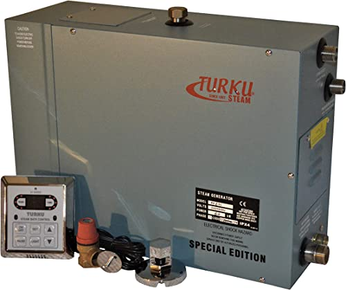 TURKU RX60i Special Edition 6KW 240V Home SPA STEAM Generator KIT with Controller, STEAM Head and Built-in AUTO Drain System Valve.