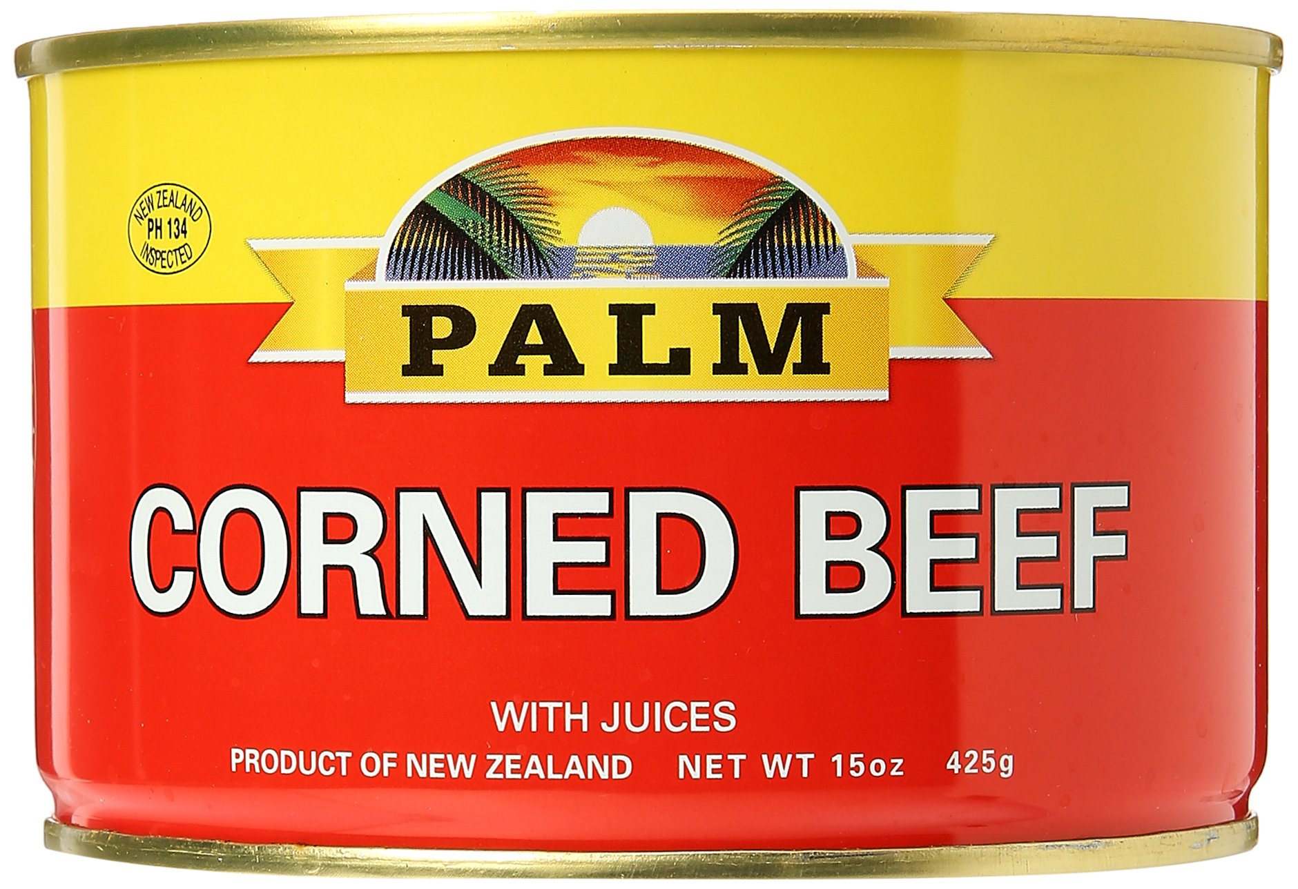 Large Palm Corned Beef 15 oz with Juices