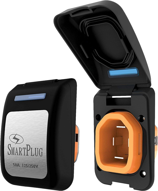 50 Amp White Cover SmartPlug BM50PW Non-Metallic Inlet