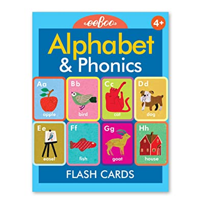 eeBoo Alphabet and Phonics Flash Cards for Kids: Toys & Games
