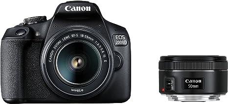 Canon EOS 2000d Cámara Réflex con El Objetivo EF-S 18 – 55 IS II + ...