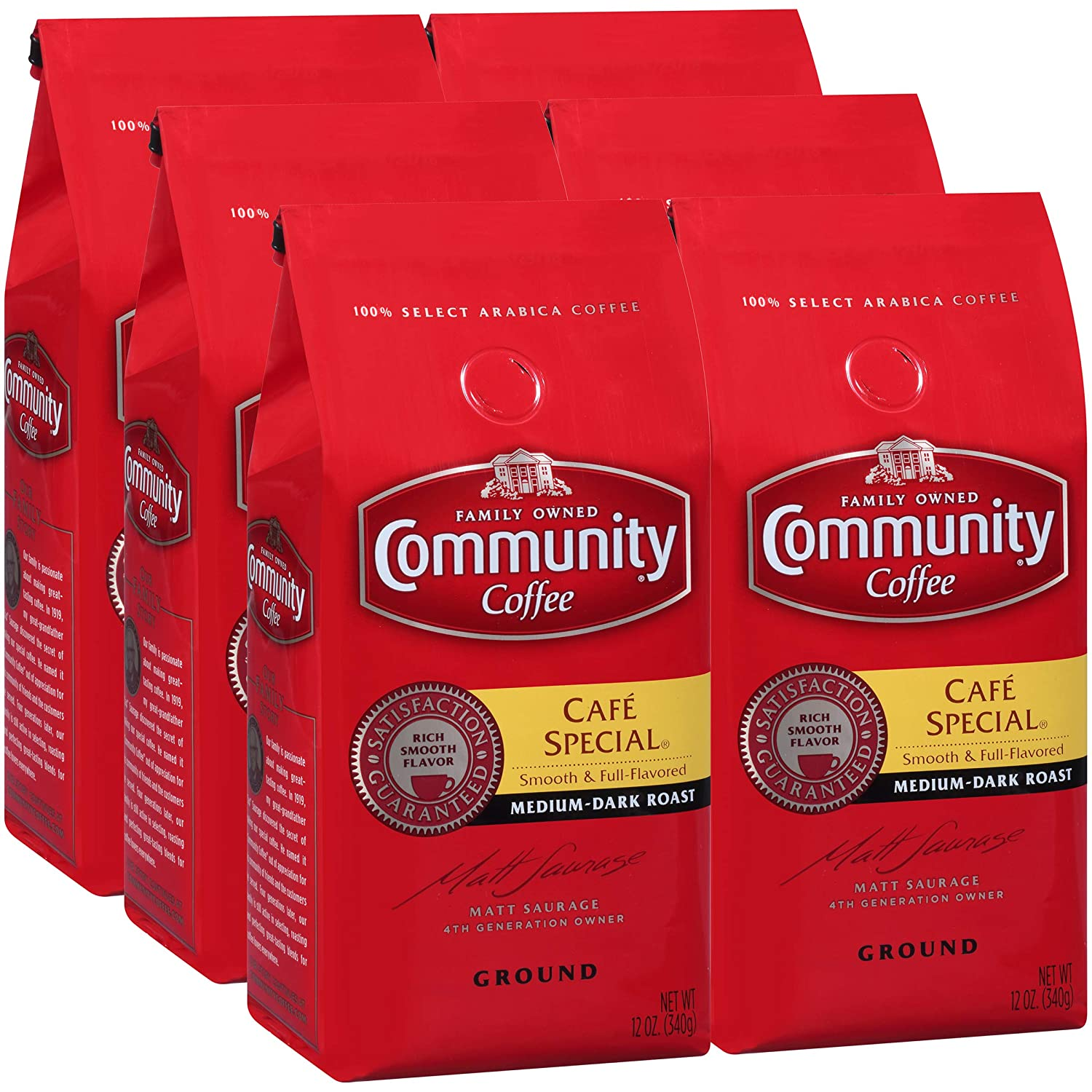 Community Coffee Café Special Ground Coffee, 12 Ounces (Pack Of 6)