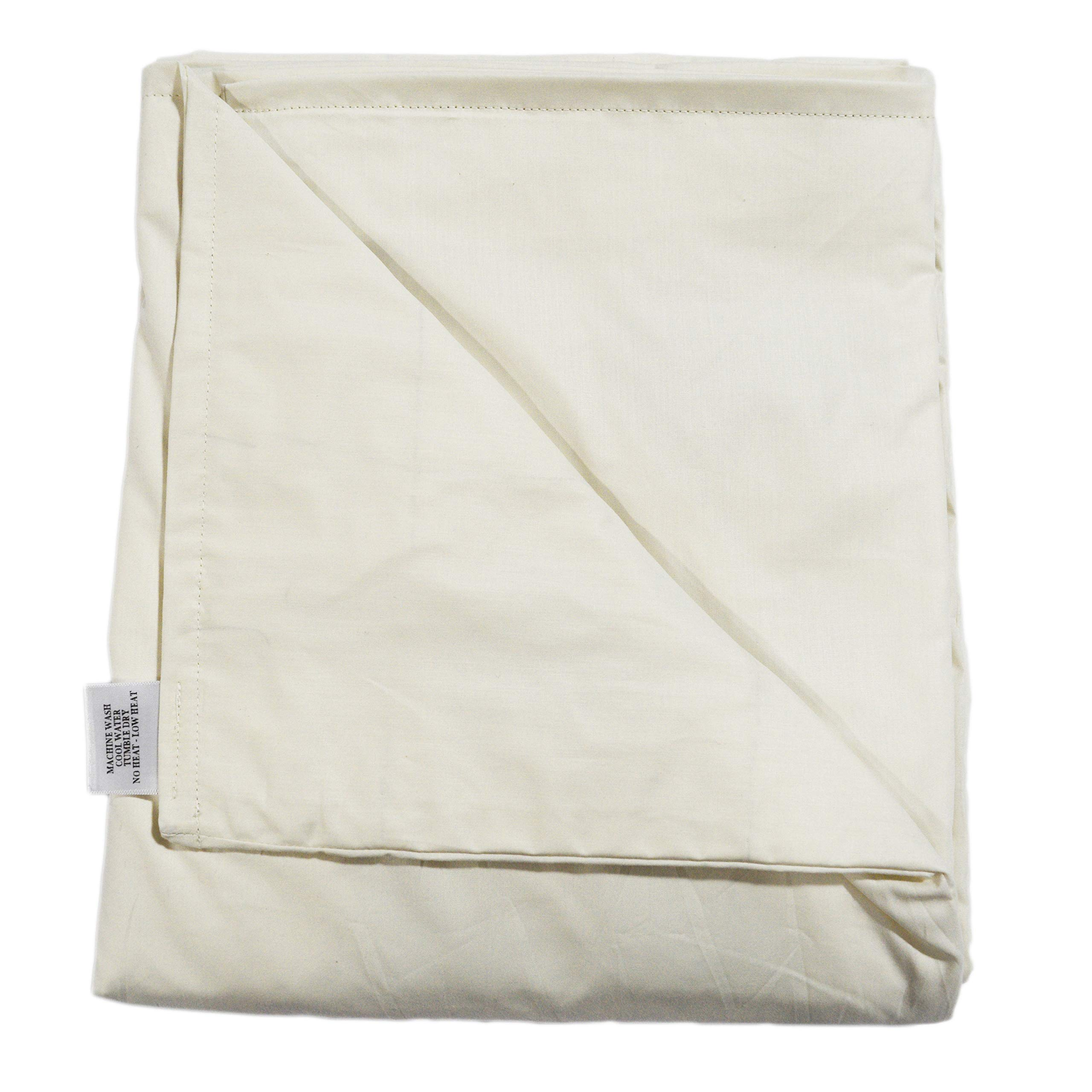 SENSORY GOODS Child Small Weighted Blanket - MADE IN AMERICA - 6lb Medium Pressure - Cream - 100% Organic (52'' x 40'') Provides Comfort and Relaxation.