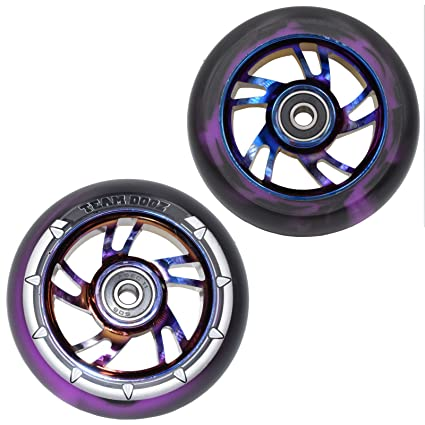 Equipo Dogz 100 mm patinete rueda - morado con negro/morado ...