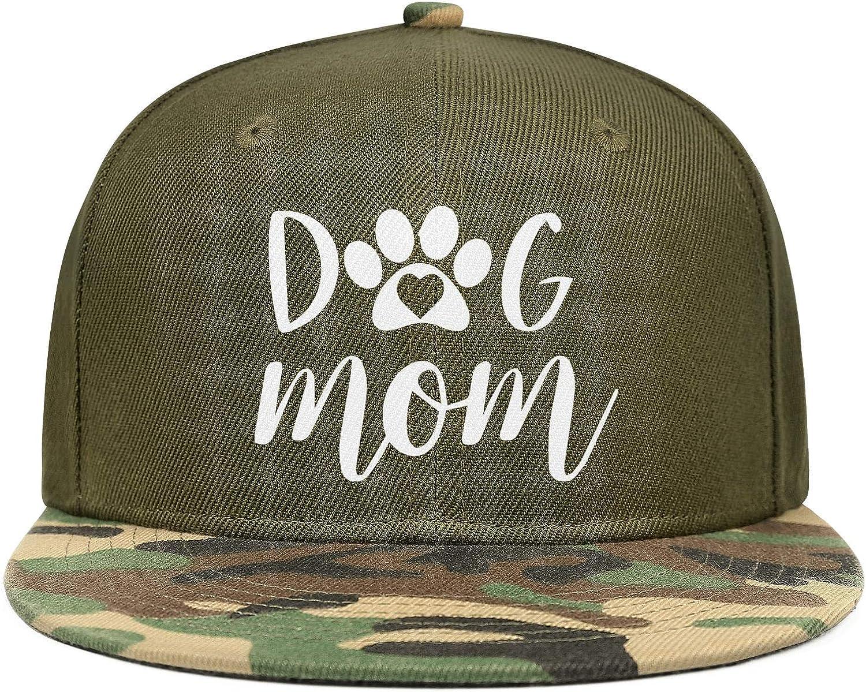 Dog Mom Unisex Baseball Cap Soft Fit Fishing Hats Adjustable Trucker Caps Dad-Hat
