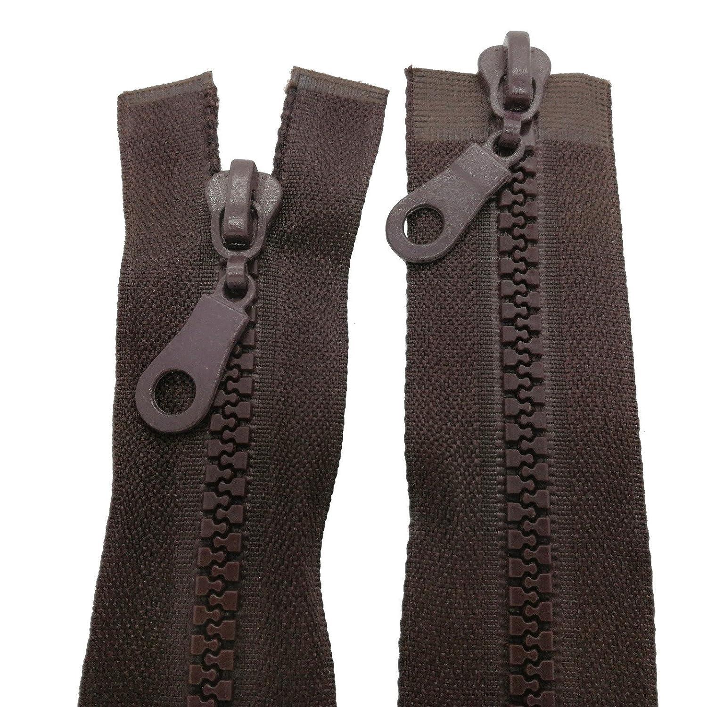 Reißverschluss für Rucksäcke Zelte schwarz 175 cm lang 5mm Spirale 2 Schieber