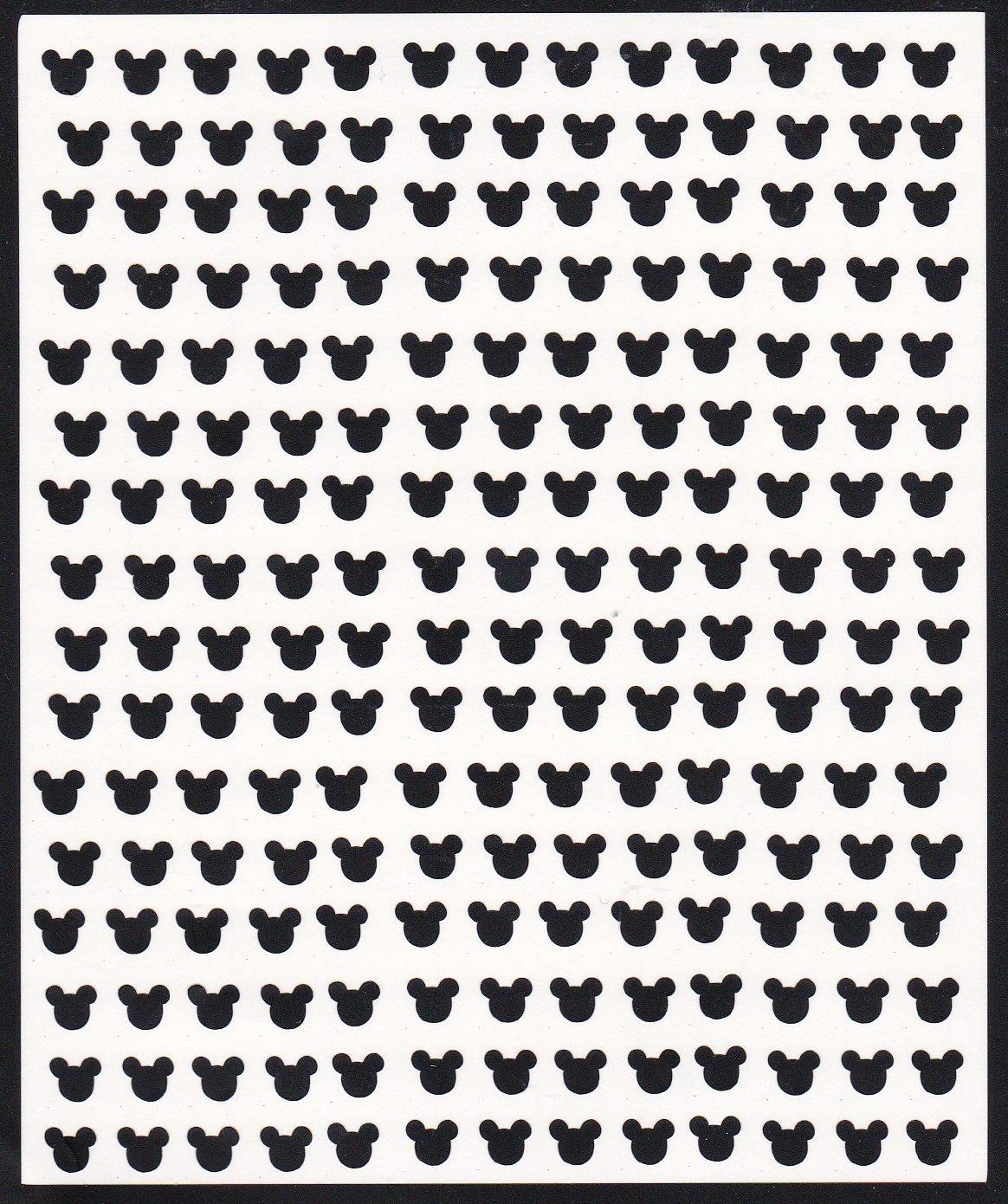 Disney Press On Nail Stickers (Mickey Head Black) Kaz Creations