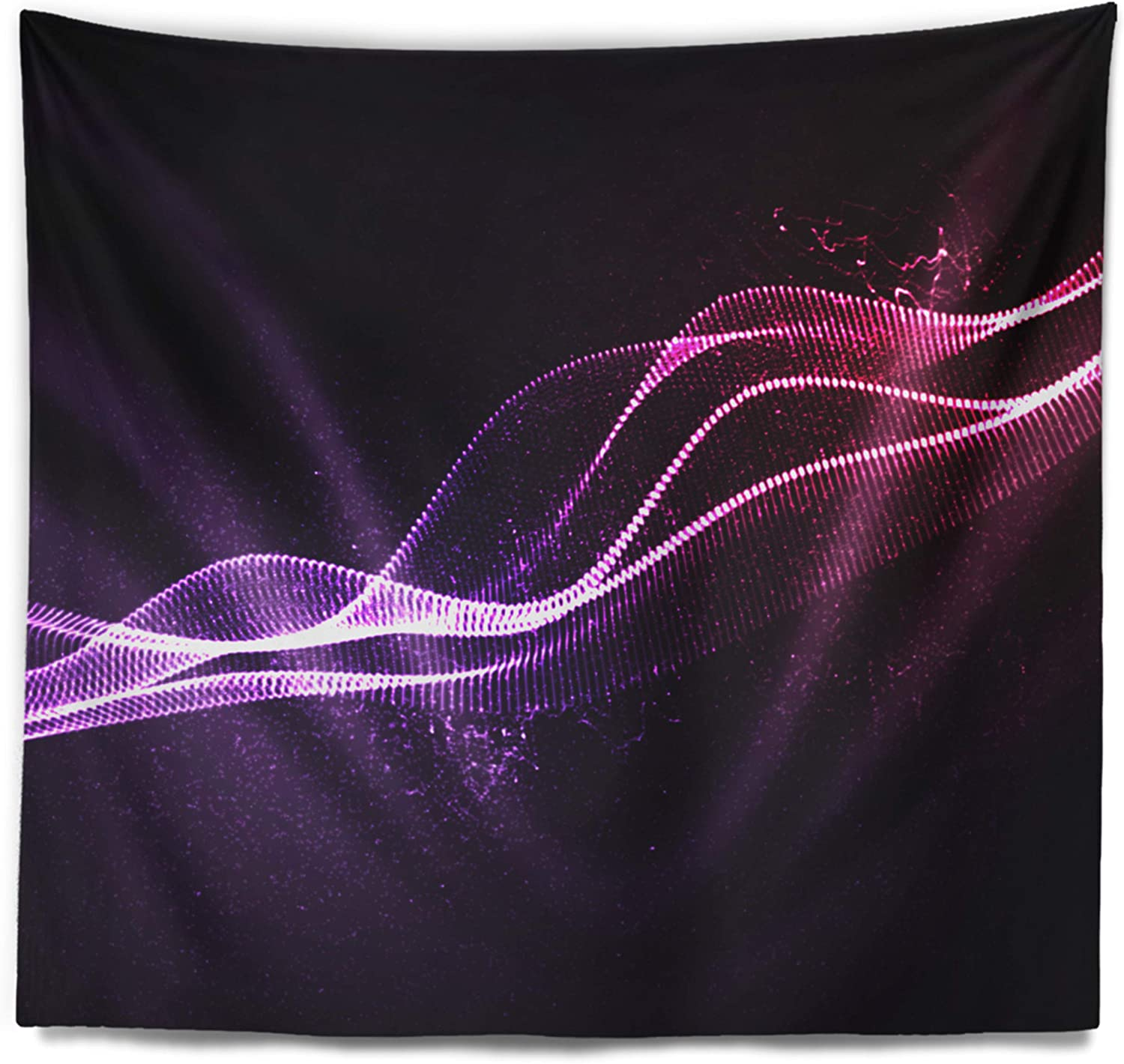 Amazon Com Designart Neon 3d Digital Wave Abstract Tapestry Blanket Décor Wall Art For Home And Office Created On Lightweight Polyester Fabric Medium 39 In X 32 In Arts Crafts Sewing