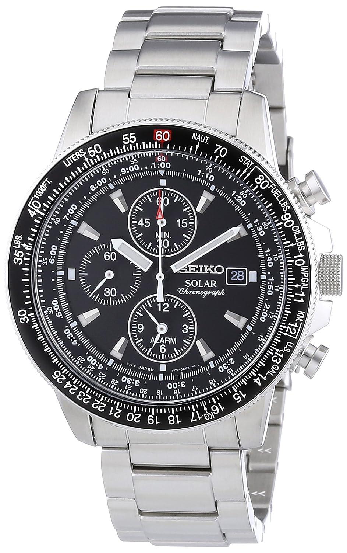 91e8185d41c3 Seiko SSC009P1 - Reloj cronógrafo de cuarzo para hombre con correa de acero  inoxidable