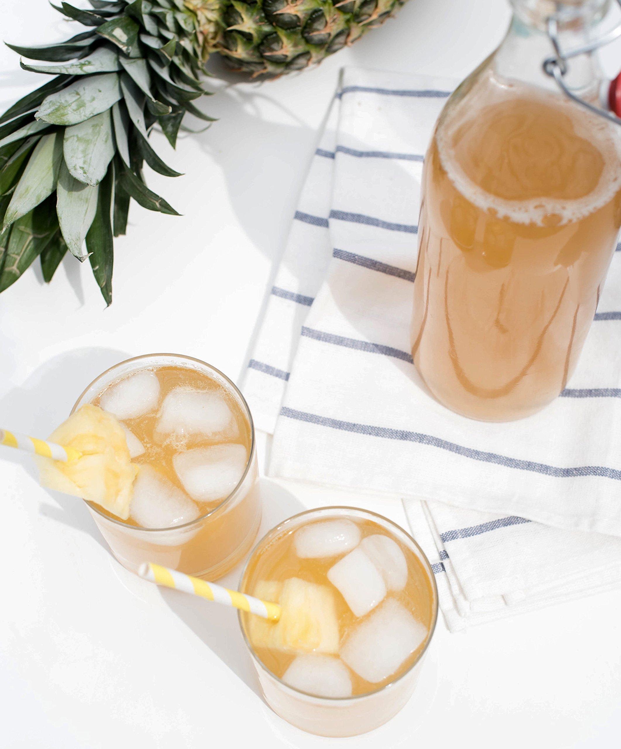 Kombucha Brewing Kit with Organic Kombucha Scoby. Includes Glass Brew Jar, Organic Kombucha Loose Leaf Tea, Temperature Gauge, Organic Sugar and More! by The Kombucha Shop (Image #8)
