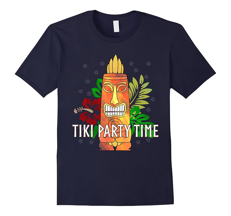 Tiki Party Time Luau Hawaiian Party T-Shirt-BN