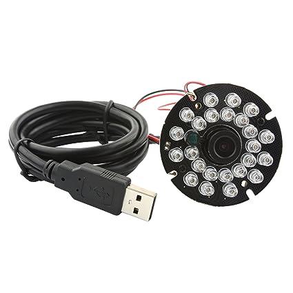 ELP Cámara de vigilancia HD en USB visión nocturna de 2.0 Mp 1920x1080P conecta y reproduce