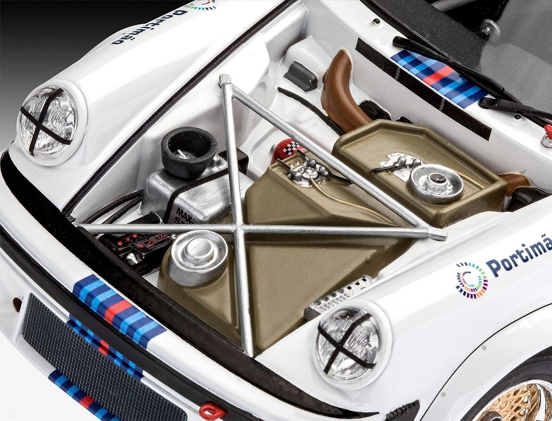 1//100 Multicolore 67685 Colori primari e Pennello Revell- Model Set Porsche 934 RSR Martin Kit di Modelli in plastica con Adesivo