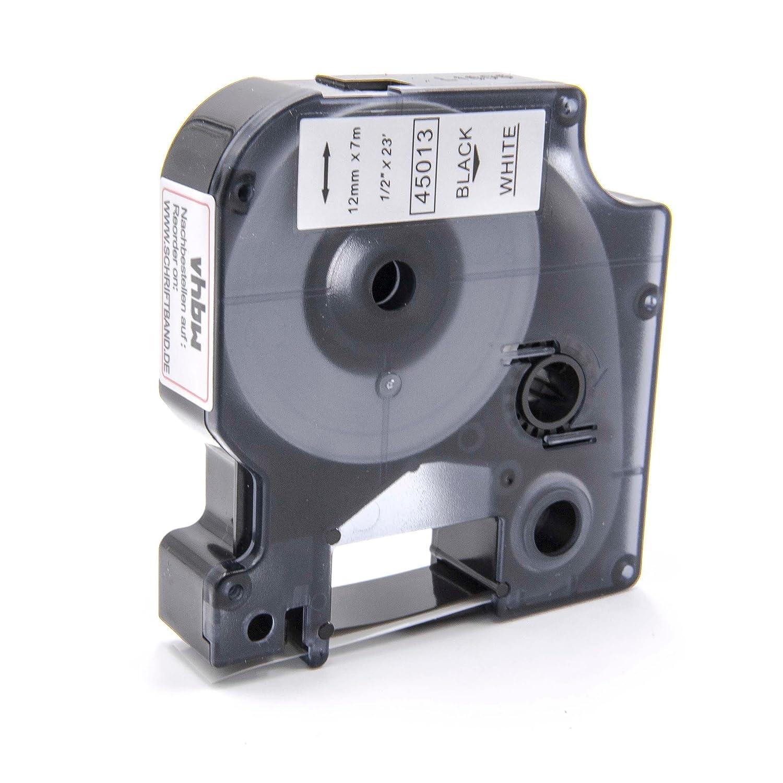 Cassette Cartouche Ruban 12mm vhbw pour Dymo Labelpoint 100, 150, 200, 250, 300, 350, LabelManager 100, 100 Plus, 120P comme Dymo D1, 45013. VHBW4251004635590