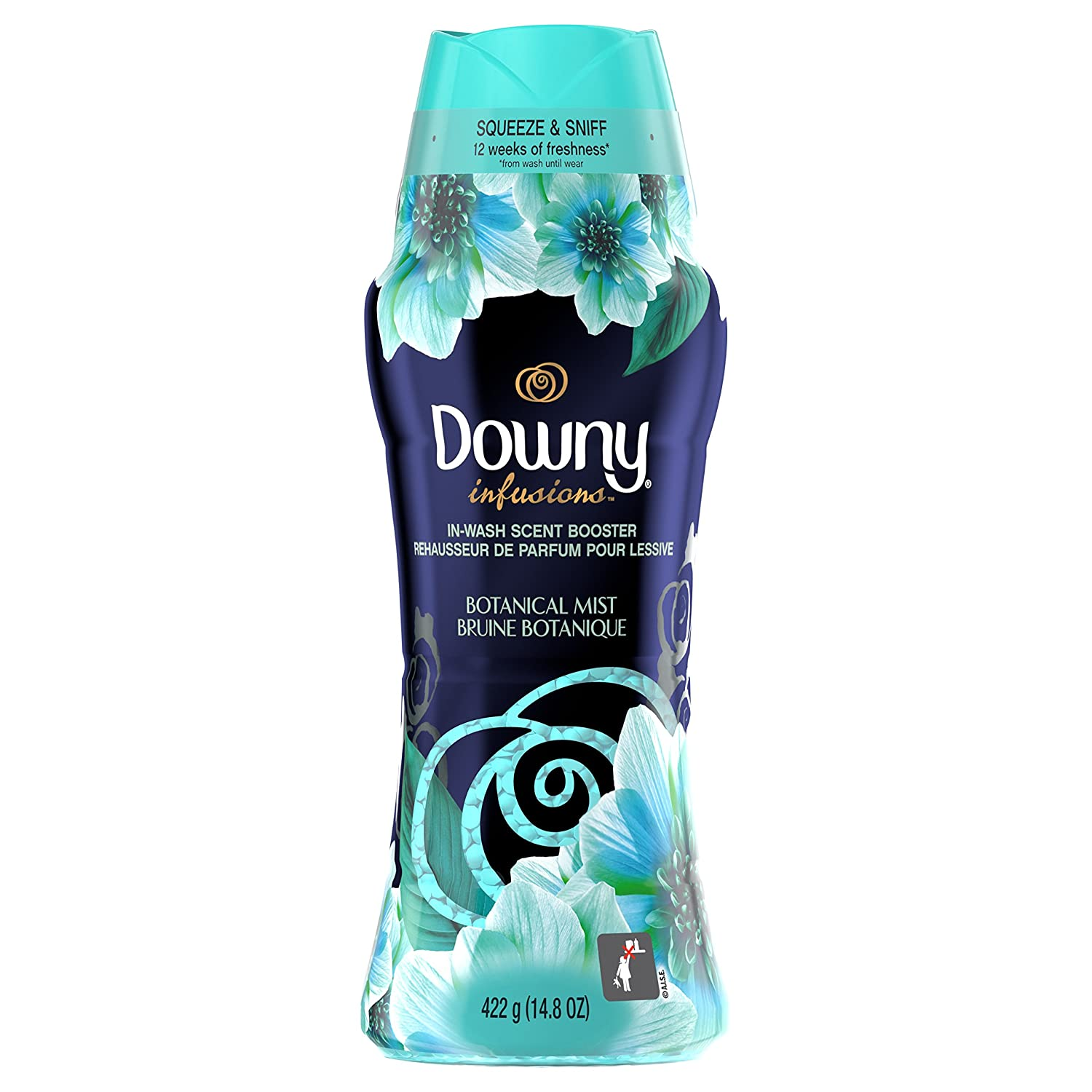 Downy Infusions in-Wash Scent Booster Beads, Botanical Mist, 14.8 Ounce