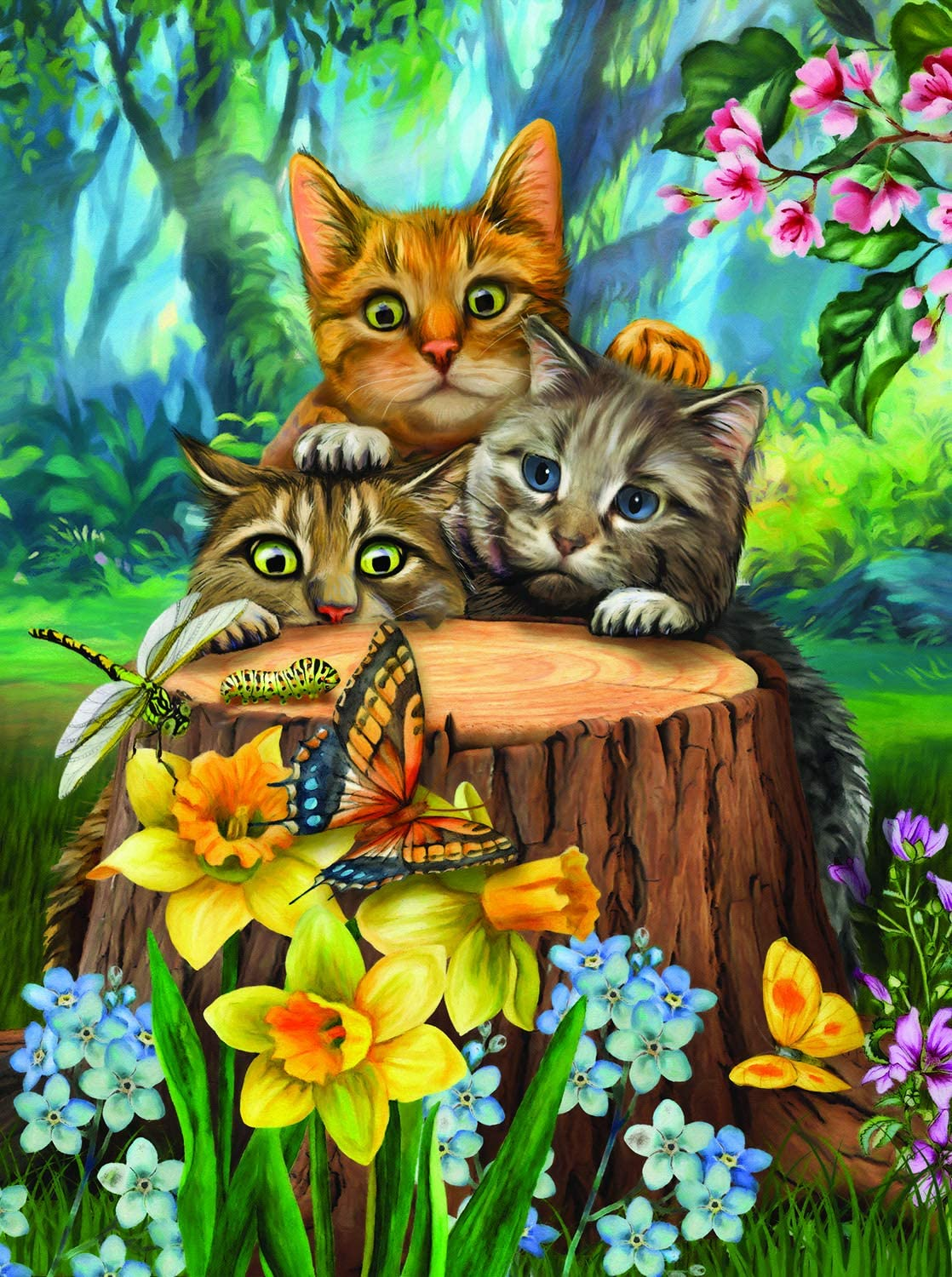 Fraidy Cats 300 pc Jigsaw Puzzle by SUNSOUT INC