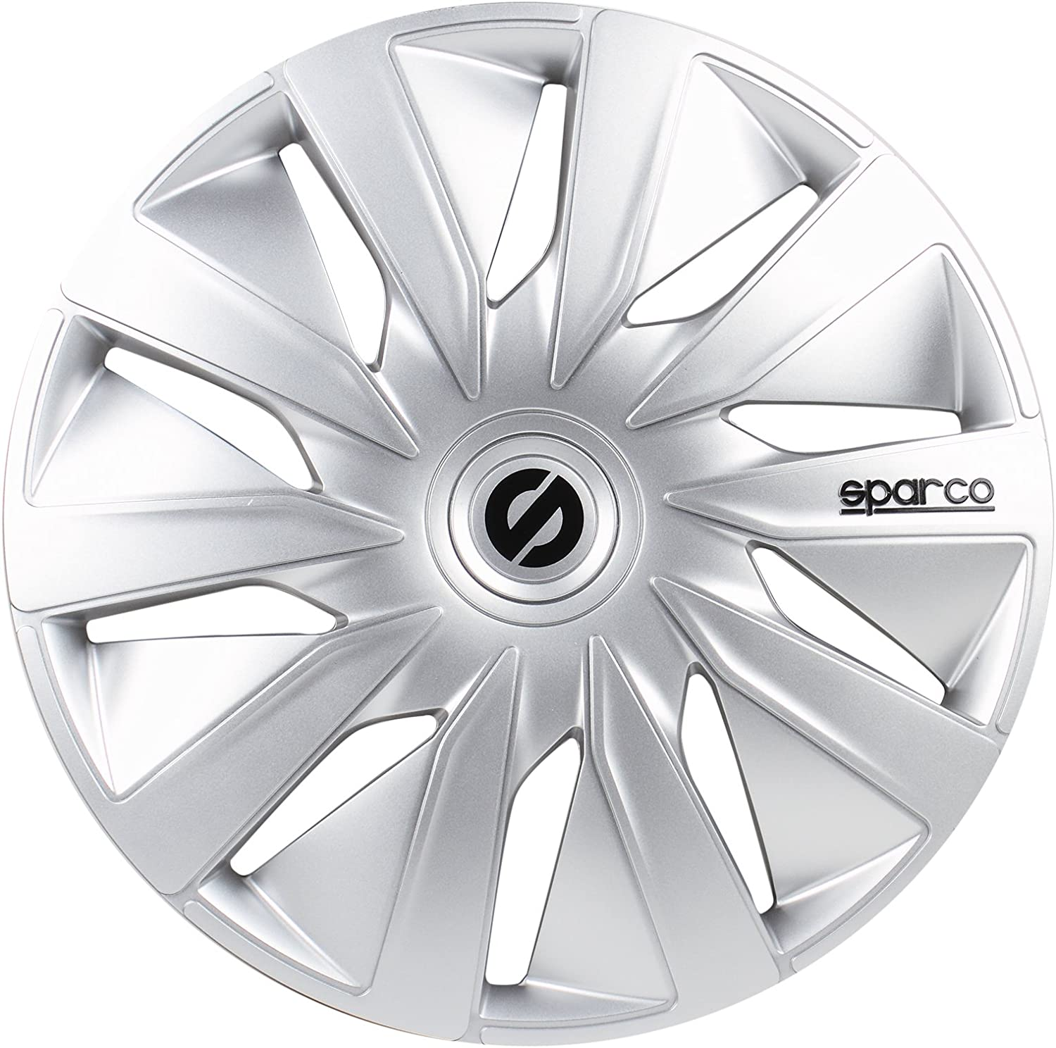 Set of 4 Grey 14 SPARCO SPC1490GR Lazio Wheel Covers