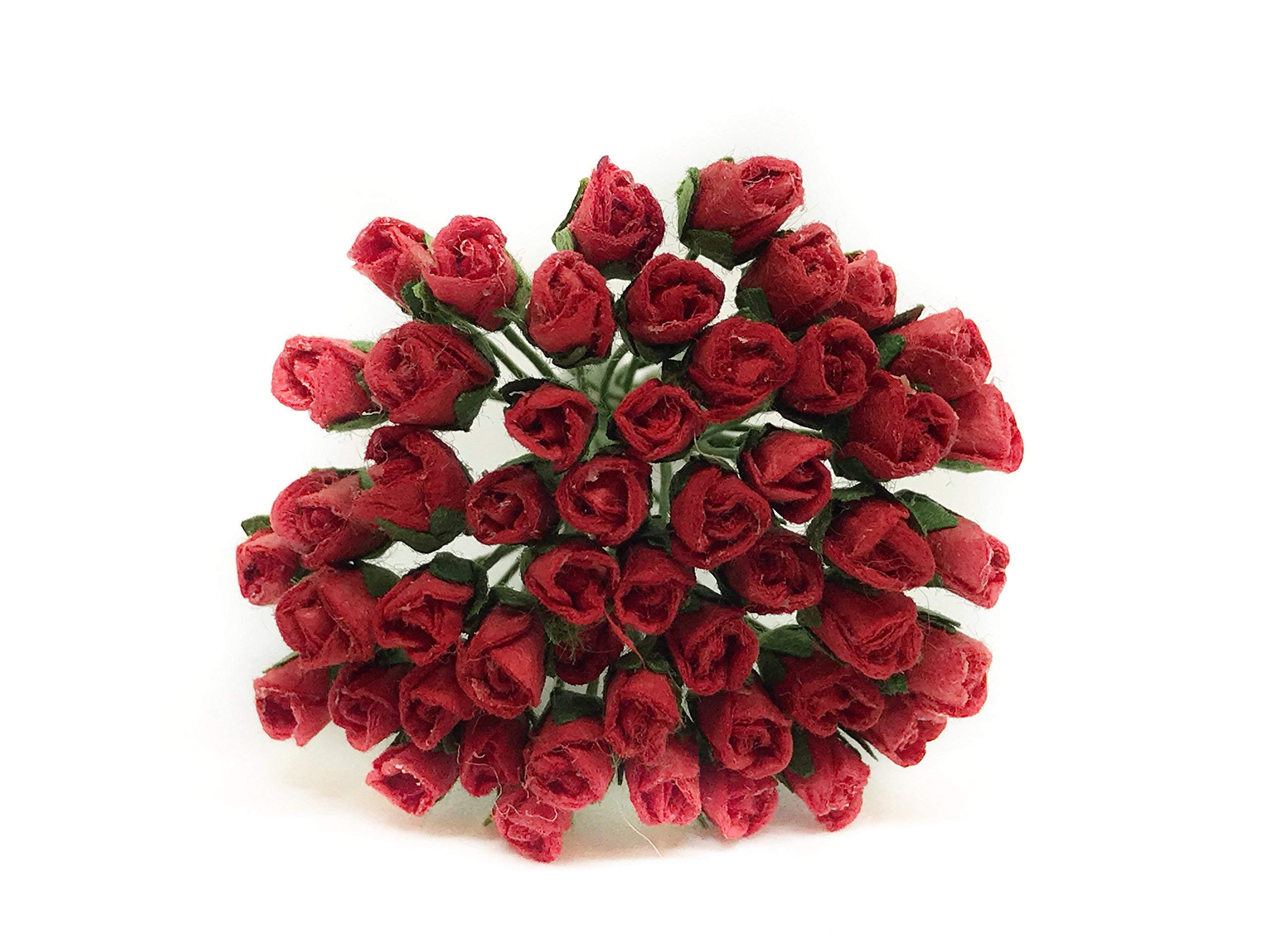 07cm-Red-Paper-Roses-Mulberry-Paper-Flowers-Miniature-Flowers-Mulberry-Paper-Rose-Buds-Miniature-Rose-DIY-Bouquet-Scrapbooking-Flowers-50-Pieces