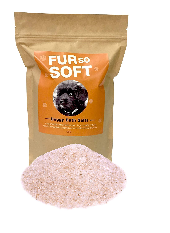 Dog Bath Salts 100% All Natural Himalayan & Mineral Salts. Simply stir into bath water. Hydrates. Softens fur & hair. Controls allergies & sensitive problem skin. Works wonders on skunk spray odor.