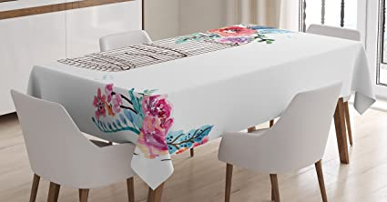 amazon com watercolor tablecloth by ambesonne sketch of a bird on