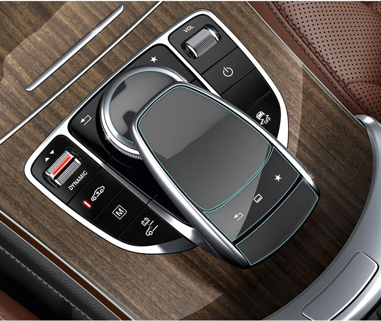 SHAOHAO f/ür Mercedes Benz C-Klasse V-Klasse GLC-Klasse S-Klasse GLE GLS CLA Transparent Schutzfolie Mittelkonsole Mausfilm 2 St/ück