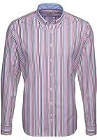 Seidensticker Herren Hemd Schwarze Rose Slim Fit Button-Down-Kragen mehrfarbig gestreift mit Patch Gr. 38 - 46 / 228472.44