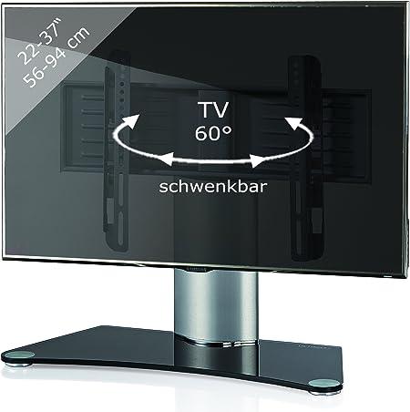 VCM 17080 Windoxa-Soporte de Mesa para TV, Cristal de Color Negro ...