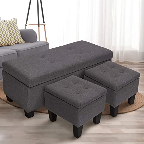 GOOD GRACIOUS 42.1″ Rectangular Storage Ottoman