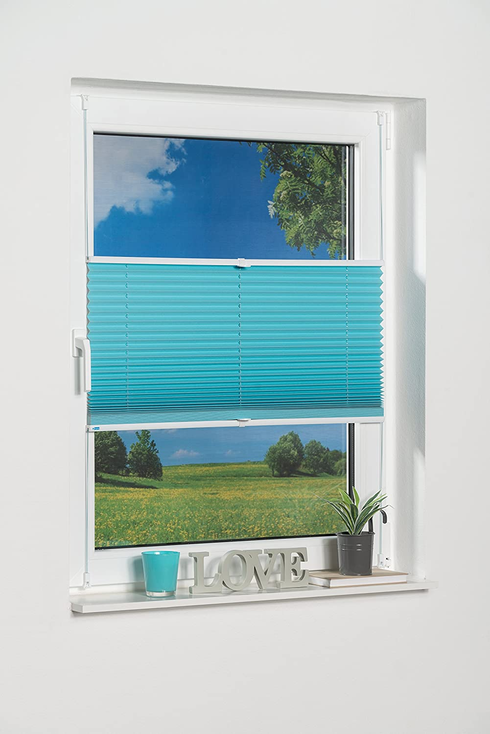 'K Home 322574 1 Klemmfix Pleated Blind with
