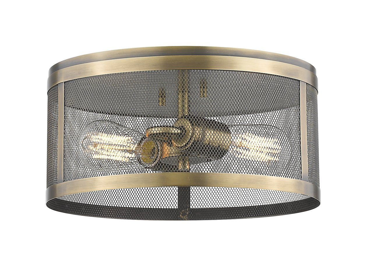 Z-Lite 331F12-NB 2 Light Flush Mount 2