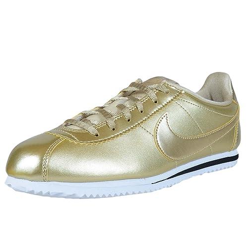 finest selection be024 c31a2 NIKE Cortez SE (GS) Big Kid s Shoe Metallic Gold Star 859569-900 (