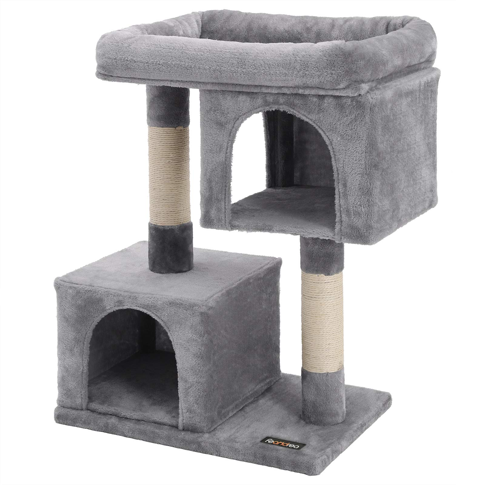 Mua Feandrea Cat Tree For Large Cats Cat Tower 2 Cozy Plush Condos And Sisal Posts Trên Amazon Mỹ Chính Hãng 2021 Fado