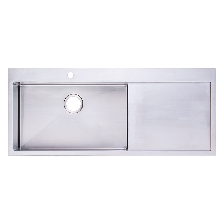 bai 1233 48 handmade stainless steel kitchen sink single bowl
