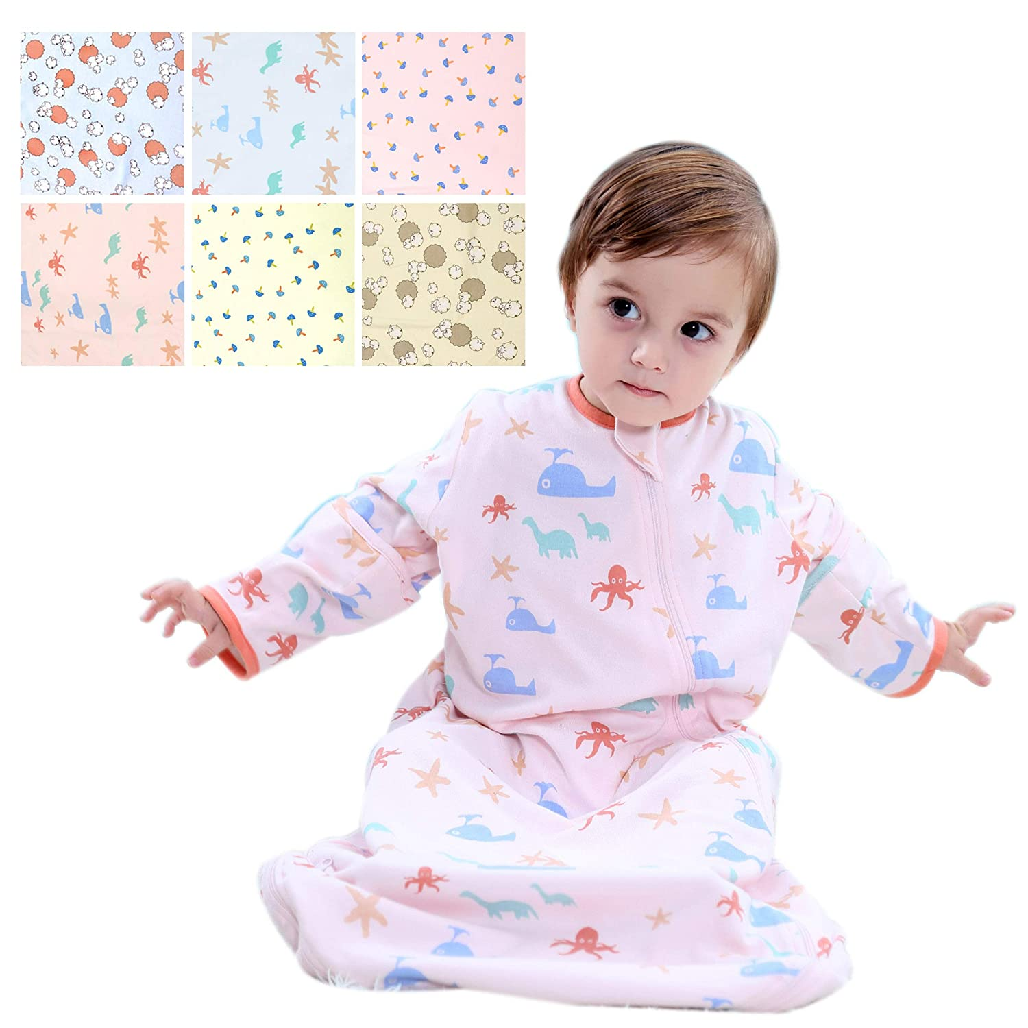 Amazon.com  GEX Baby Sleep Sack 100% Cotton Wearable Blanket Baby Sleeping  Pink Animal Party 80 (3mos-8year)  Baby ad9c197db