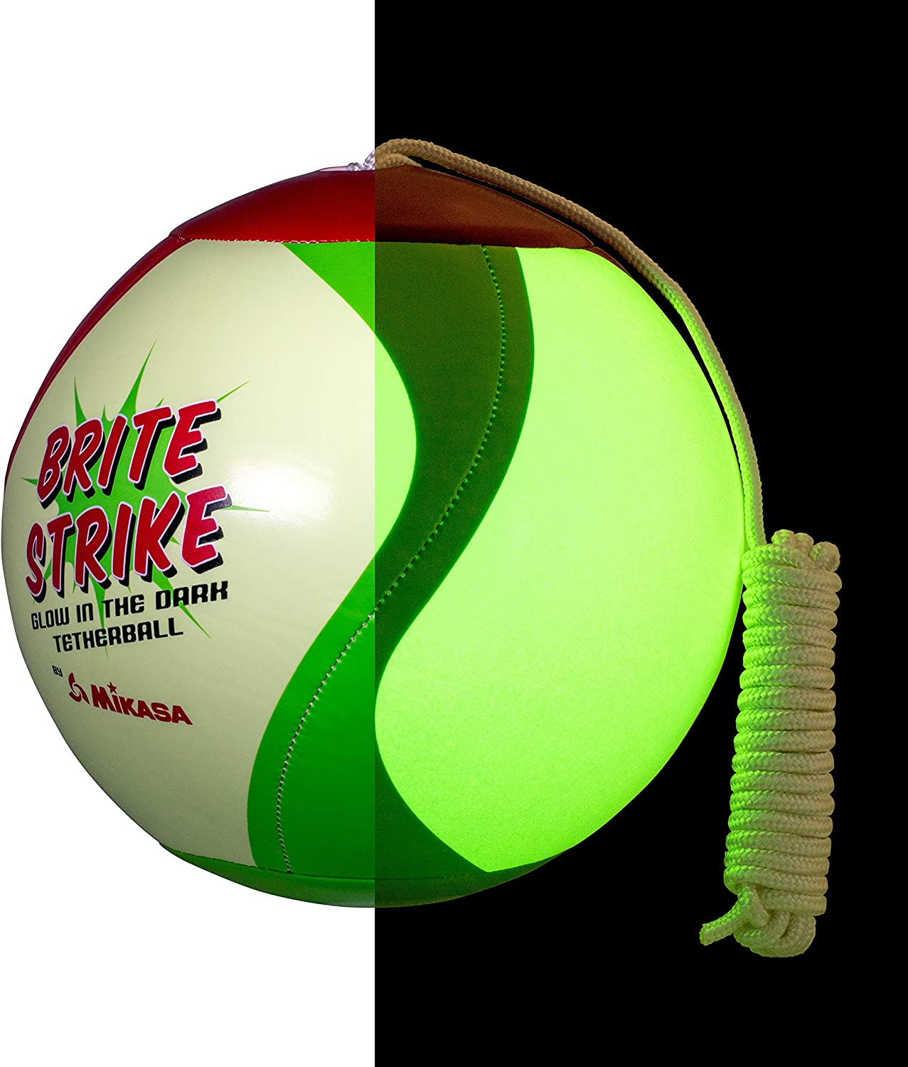 """Multicolor Tetherball Equipment /"""" /& Mikasa Glow In The Dark Outdoor Tetherball"""