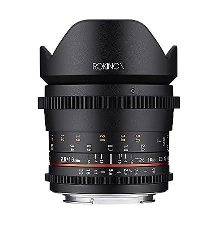 Amazon.com : Rokinon 16mm T2.6 Full Frame Cine Wide Angle Lens for ...