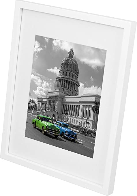 11 x 14-Inch Picture Photo Frame with mount for 8 x 10-Inch photo ...